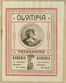 Olympia theatre program, front cover