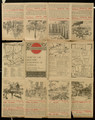 London underground guide, unfolded, verso